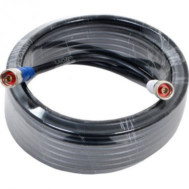 Коаксиальный кабель RG 5D-FB PVC длиной 15 м с разъемами N-типа