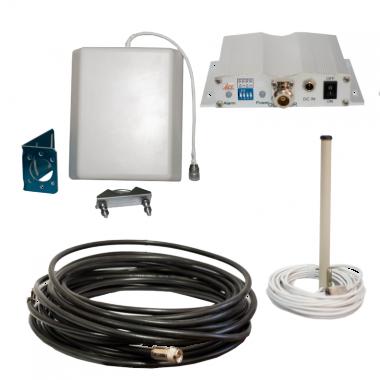 Комплект включает в себя репитер сигнала ICS10F-G 900 и все необходимые аксессуары