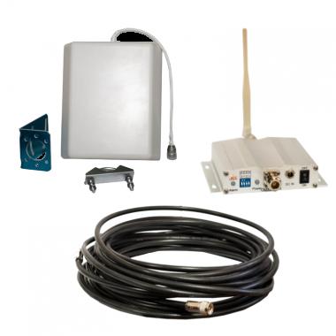 Комплект поставки - все, что необходимо для установки GSM репитера ICS10F-D 1800 МГц