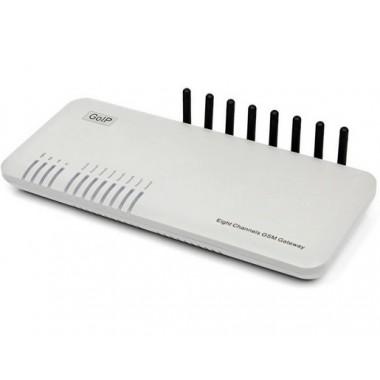 VoIP/GSM шлюз GoIP8 для корпоративного или домашнего использования.