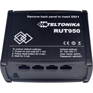 Маршрутизатор RUT950 - высоконадежный маршрутизатор LTE с двумя слотами для SIM-карт